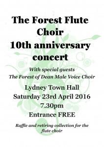 Flute Choir concert poster
